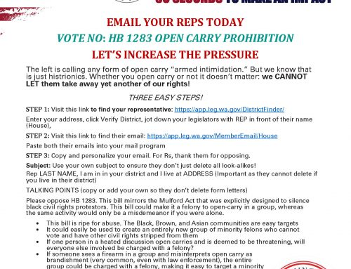 EAOD-12: EMAIL YOUR REPS: VOTE NO ON HB1283 OPEN CARRY BAN